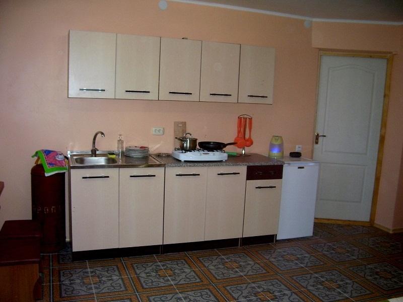 кухня в номере Студия Крым Севастополь Любимовка. частный дом отдыха У Натали