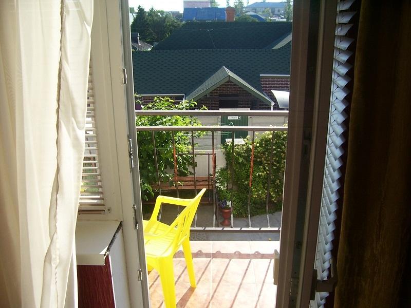 Выход на балкон с номера Эконом частного дома отдыха У Натали Крым Севастополь Любимовка