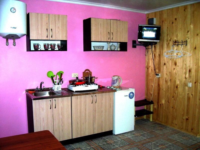 Кухня в номере Студия частного дома отдыха У Натали. Крым Севастополь Любимовка